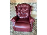 HSL Kelso Grande antique leather rise and recline chair