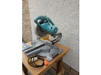 Mitre Saw 110v- ToolMaster Single bevel compound sliding mtre saw