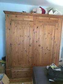 Solid pine extra large wardrobe