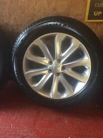 """20"""" Range Rover Vogue 2017 set of alloy wheels and tyres"""