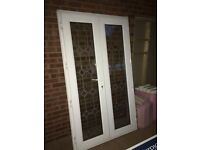 Patio doors with 2 side panels