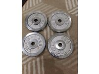 4 x 5KG YORK CHROME PLATES