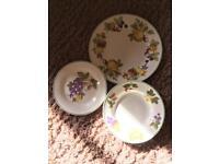 8 person dinner / crockery set - vintage inspired pattern
