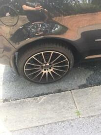 Golf alloys 5 stud with excellent tyres on Huddersfield