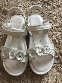 Girls Clarks sandals. Size 11.5 F.