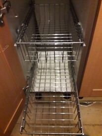 2 Pull Out Wire Baskets - 300mm