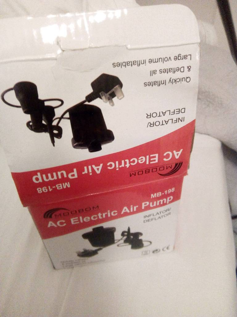 Electric air pump new box open