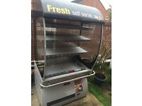 Upright display fridge suitable for drink and sandwiches