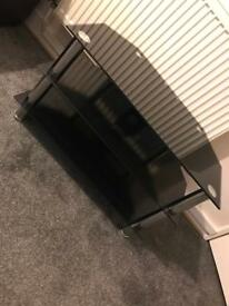 Black and silver tv unit