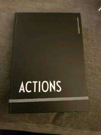 Design Letters Actions notebook