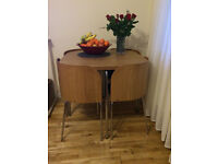 Ikea Fusion Oak Compact Table and Chairs - Excellent Condition, Pet and Smoke Free Home