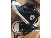 Black Converse High Tops Size 4 Toddler