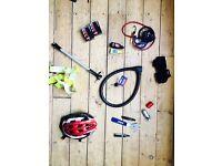 Bike accessories : lock, lights, tools, 2xpump etc.