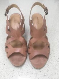 Women's Nine West sling back shoes brown size 40