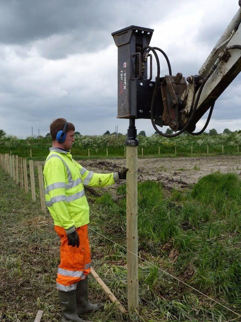 Digger Hire Plant Hire Post Knocker Soil Screener
