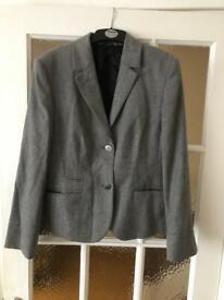 Next petite grey blazer size 14