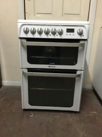 Hotpoint ultima electric cooker 60cm ceramic double oven 3 months warranty free local delivery!!!!!