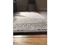 John Lewis thick braid rug 180x120. Grey/brown Rrp£380