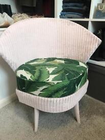 Dressing room bedroom chair banana leaf print pink