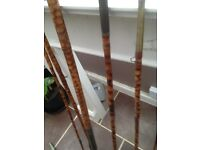 Antique split Cain fishing rods