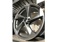 "4 18"" alloy wheels alloys rims tyres to fit seat Skoda vw Volkswagen Audi s3"