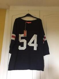 Superdry oversized American football top size L 16-18