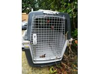 2 airline approved dog transport crates for medium sized dogs