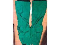 Billabong green men's ski trousers