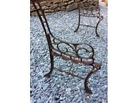 Cast iron ornate bench