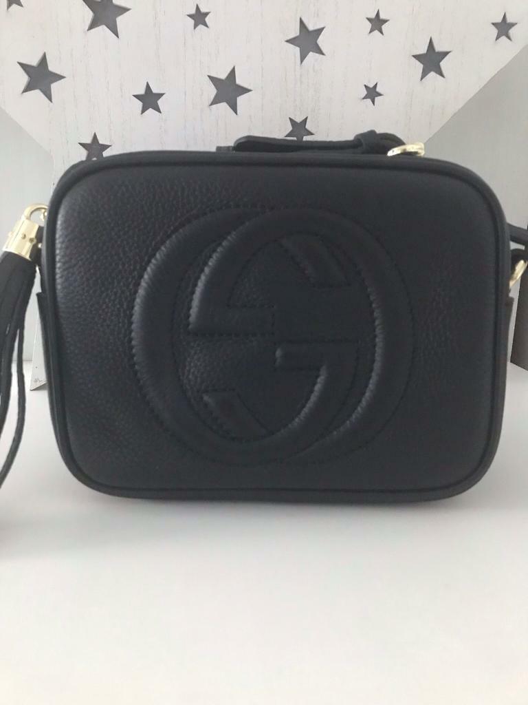 9f1d00ff322 Black leather Gucci soho disco bag