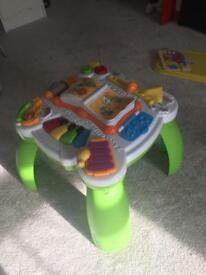 Leapfrog activity table for baby and toddler