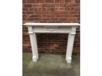 Plaster fire surround