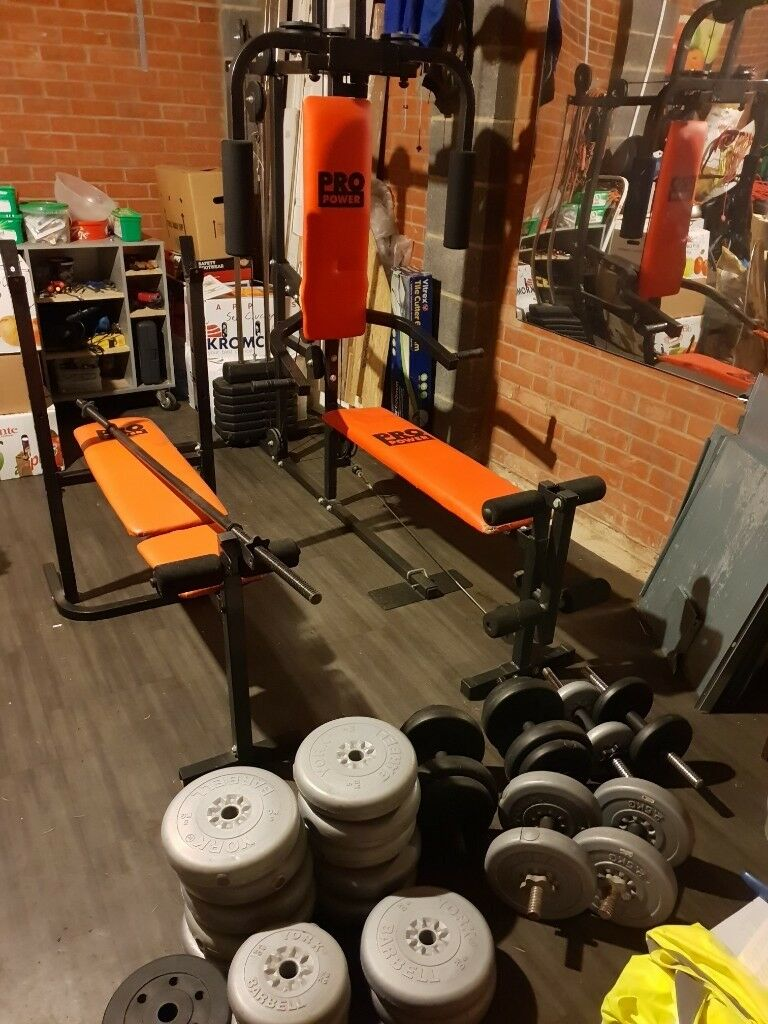 Pro Power Multi-Gym + Bench Press + Weight Set - Home Gym | in Spalding,  Lincolnshire | Gumtree