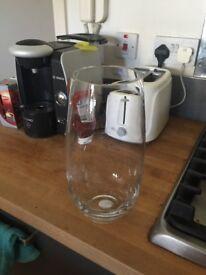Marks & Spencer tall glass vase