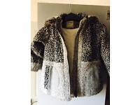 Next girls animal print coat 4-5