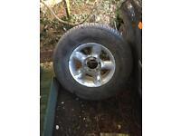 Mitsubishi L200 spare wheel