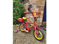 Apollo (Halfords) Firechief Kids' Bike - 12 inch, Age c. 3-5 years