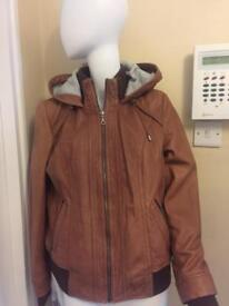 REAL LEATHER JACKET - size 16 brand new