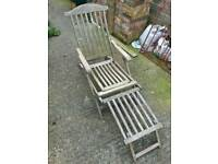 Quality wooden garden loungers