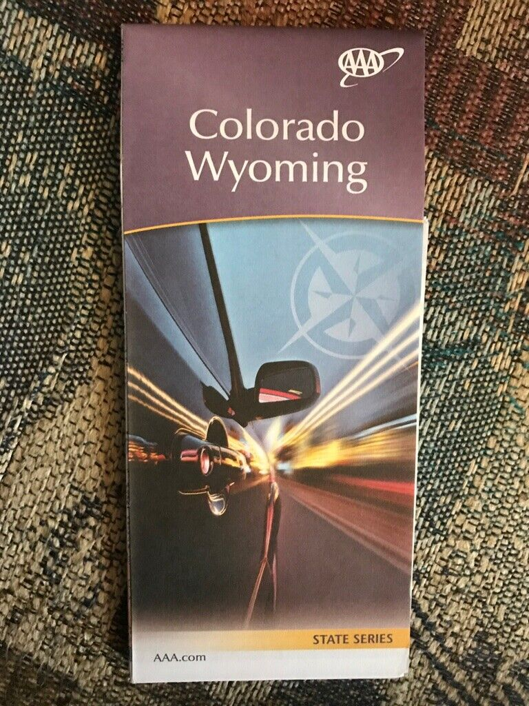 COLORADO WYOMING STATE SERIES HIGHWAY MAP AAA 2/20-5/21 NEW - $5.75