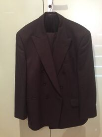 Black double breasted 2 piece suit for sale