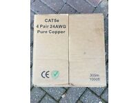 CAT5e 4 pair 24awg pure copper