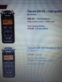 TASCAM DR-05 high quality handeld audio recorder