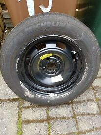 """Spare 15"""" wheel with Michelin 185 65 15"""