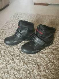 Speed black motorbike boots size 10