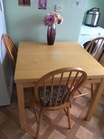 Ikea Extendable dining table and 3 Chairs