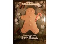 Christmas Gingerbread Man Bath Bomb Fizzer Gift Stocking Filler