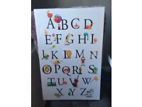Kids alphabet animal canvas print