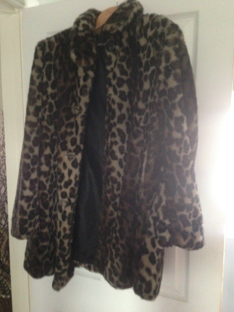 4e71b05087 Faux fur leopard print coat. Long Ashton ...