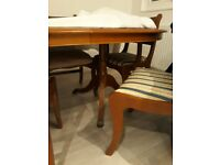 Solid Yew Extendable Dining Table & 6 Chairs